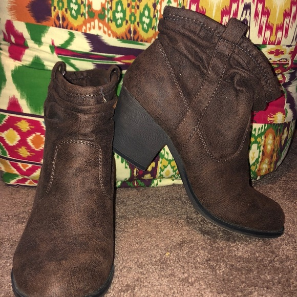 Gently Worn Brown Ankle Boots